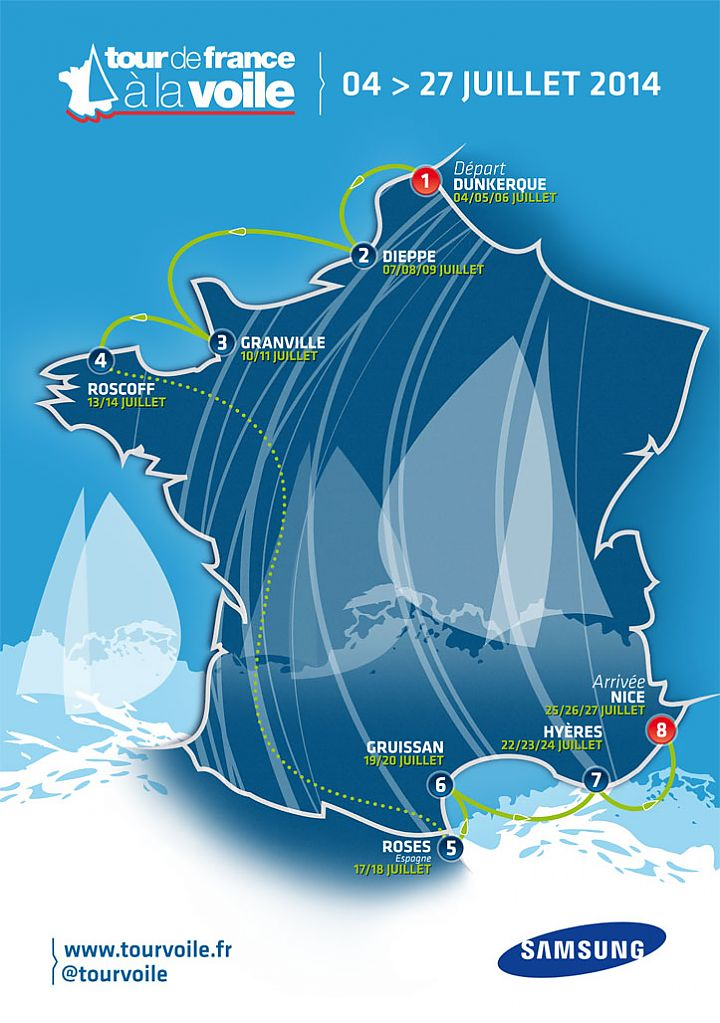 Rosas is hosting the 5th stage of the Tour de France à la Voile 2014